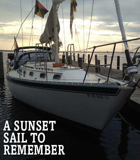 A sunset sail to remember