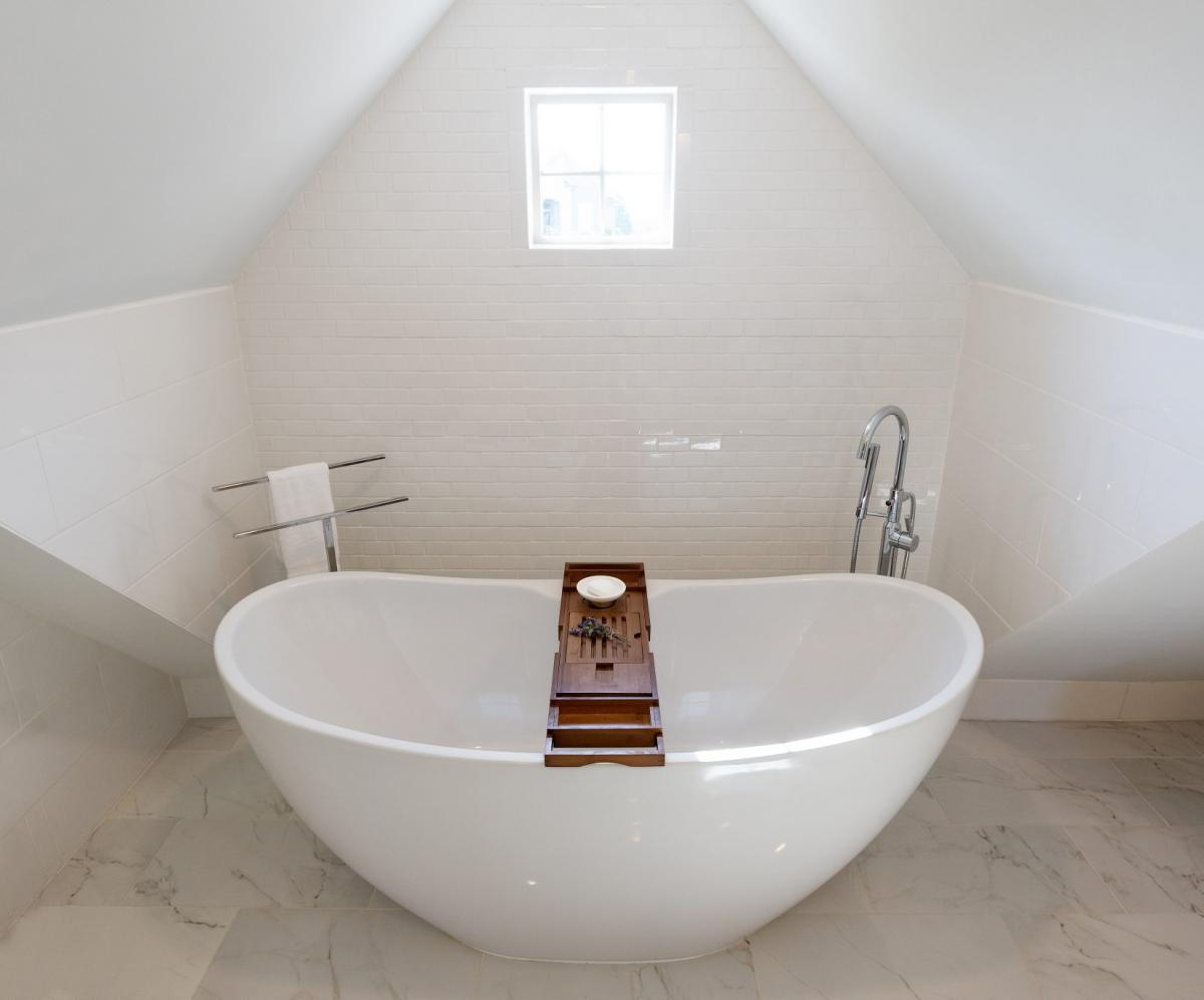 White Attic Tub